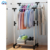 Foldable pole stainless steel standing drying garment coat cloth rack cloth hanger