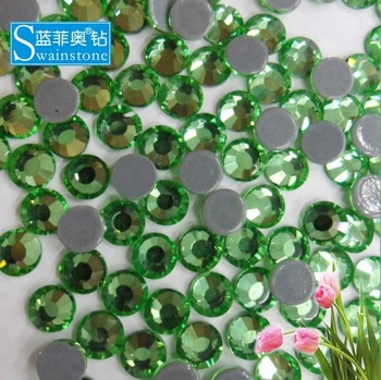 M0626 SS16 4MM Olivine shiny iron-on motif, SS16 AB Citrine iron-on beads flat back , Swainstone hotfix rhinestone