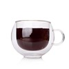 250ml 9oz Personalized Unbreakable Transparent Double Wall Glass Coffee Mug With Handle