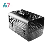 Professional Mulit Use Fashion Low MOQ Cosmetic Box Makeup Train Case