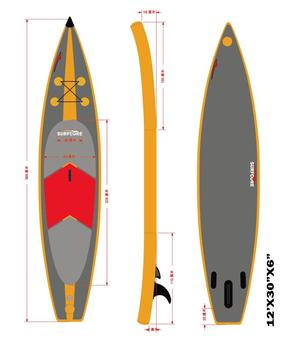 Low price race sup paddle board inflatable made in china