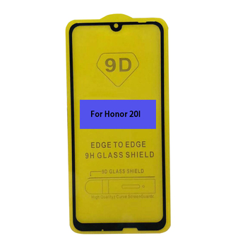 2nd time reinforcement Silk printing FULL Glue Tempered glass screen protector for Huawei Honor 20I