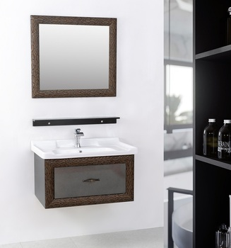 Factory Direct Selling Simple Style PVC Bathroom Vanity