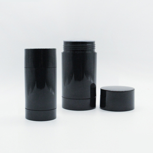 15g 75g plastic white black empty glue round deodorant tube stick container for cosmetic in stock