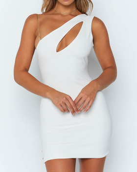 OEM Custom New Arrival Sexy White Party Dress Women