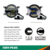 emark approved 3.5inch round led fog lights KIT with DRL for Jeep CJ TJ JK