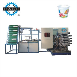DAKE-9FP-A automatic offset uv plastic cup printer