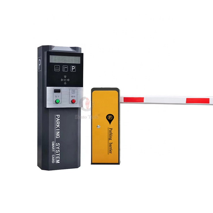 Security entrance and exit traffic barrier gate for RFID smart car parking system