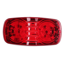 Amber 2x4 Double Bullseye LED Trailer Clearance and Side Marker Lights Turn Signals