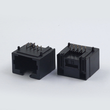 JS-56-8P8C-O-short 2 1*1 single port various colors female jack rj45 network connector