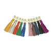 Wholesale Leather Keychain Key Ring Genuine leather Colorful Tassels