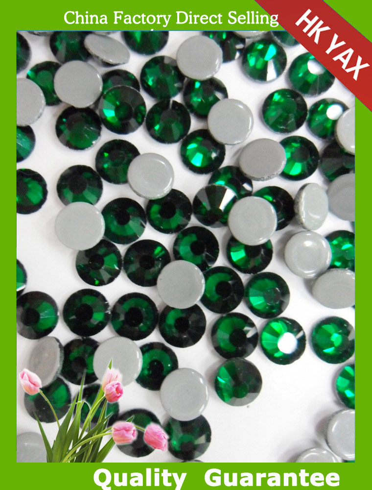0726  factory ss16 emerald swainstone brand wholesale hot fix rhinestone ,cheapest rhinestone swainstone ,iron-on crystals
