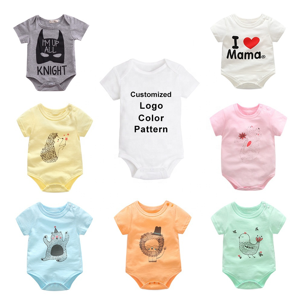 <strong>China</strong> factory oem/odm cartoon baby clothing jumpsuit wholesale cotton unisex baby clothes rompers set with logo/color/size