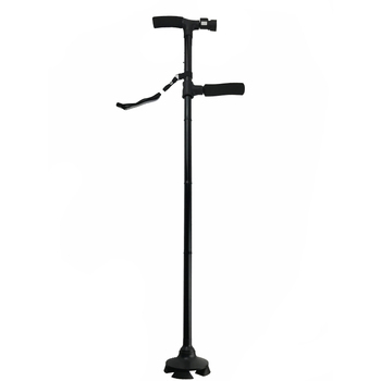 Aluminum Standing Cane For The Elderly Folding Walking Cane Walking Stick with Light