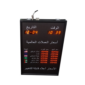 BTR-40L60H BABBITT 6 Rows and 2 Columns currency exchange rate board display