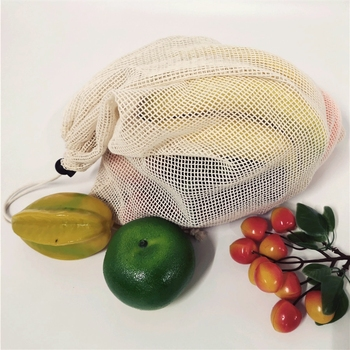 reusable mesh produce bags cotton recycled