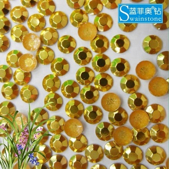 Y0906 shining gold  rhinestuds hot fix factory,5mm 8mm high quality hotfix rhinestuds;factory price hot fix rhinestuds mailhead