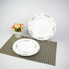Color Brilliancy Rose Pattern Luxury Design <strong>Plates</strong> Sets Opal Glass Ware Dinner Set