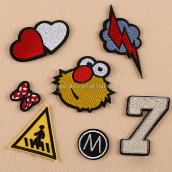 1210W good quality cartoon embroidered patch iron-on cloth/hats/bags