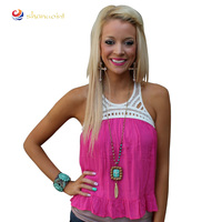 guangzhou shanuoint brand cute t-shirt women sexy pink summer sweet style sleeveless casual ladies T-shirt
