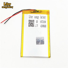 4075100 4200mah 3.7v rechargeable led li-ion polymer <strong>battery</strong>
