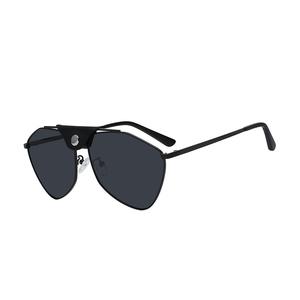 Polygon sunglasses silica gel nos pad metal frame unisex new fashion polarized sunglasses