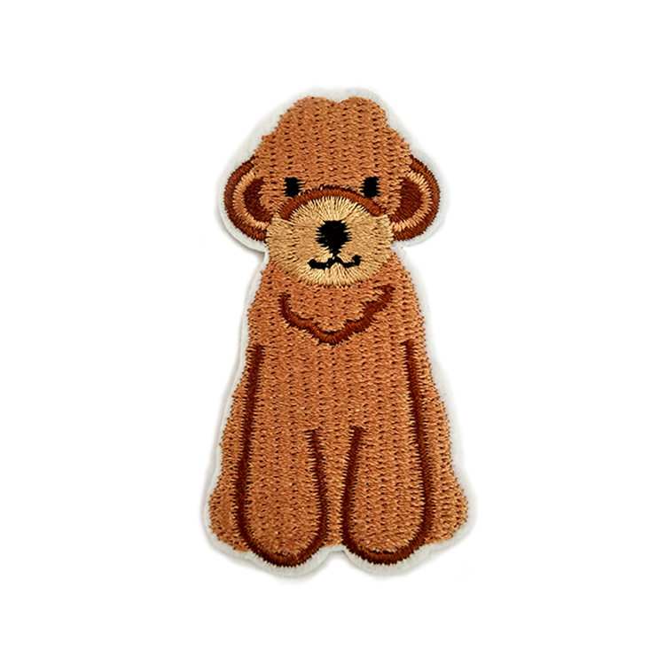 Iron On Applique Funny Animal dog Decorative Clothing Patches Embroidery 3d