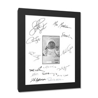 High quality 8x10 baby photo frame diy frames mdf black wedding signature frame