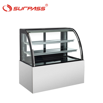 Energy saving Curved glass bakery chocolate display cabinet