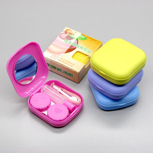 wholesale cheap contact lens case with mirror portable travel contact lens box
