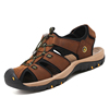 hot sale Cowhide leather sandals summer beach shoes for men