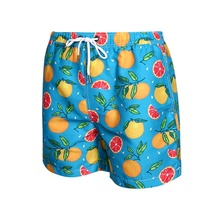 100% Polyester Hawaii wholesale custom printed swimming trunks for <strong>men</strong>