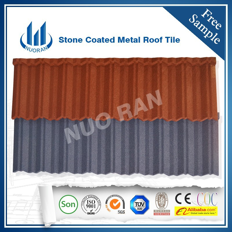 NUORAN High quality modern building materials fireproof metal roof tile/aluminum sheet for roofing