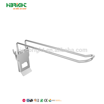 metal Display Hook for peg board or perforated board
