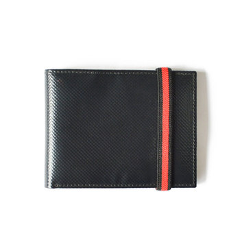 Design Your Own Wallet Black Man PU Elastic Band Wallet