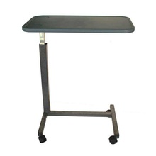 manufacturer of hospital mdf top adjustable overbed <strong>table</strong>