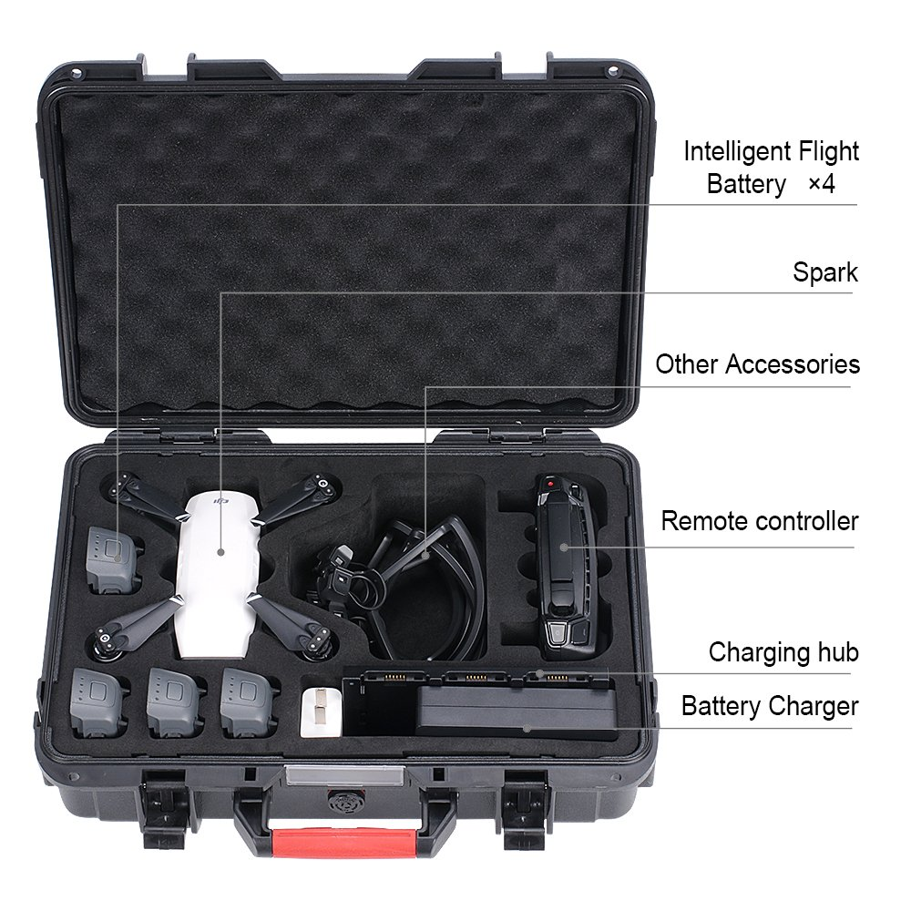 Smatree High Quality New Design Hard Waterproof <strong>Plastic</strong> Carrying <strong>Case</strong> for DJI Spark