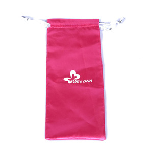 Custom Drawstring Microfiber Pouch with Logo printed