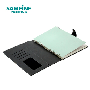 PU leather cover notebook business use with metal closure