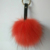 13cm faux fox fur ball with lobster alloy strap