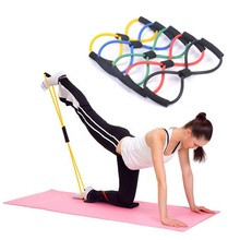 Useful Fitness Equipment Tube Workout Exercise Elastic <strong>Resistance</strong> <strong>Band</strong> For Yoga