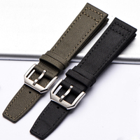 pilot nylon watch band Bottom genuine Leather strong Classic watch strap