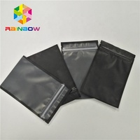 Resealable heat seal plastic packaging see through aluminum foil zip lock bags for seed / flowers packets