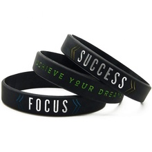 Eco-friendly Printed Custom Logo Rubber Bracelet Wrist Band Silicone Wristband