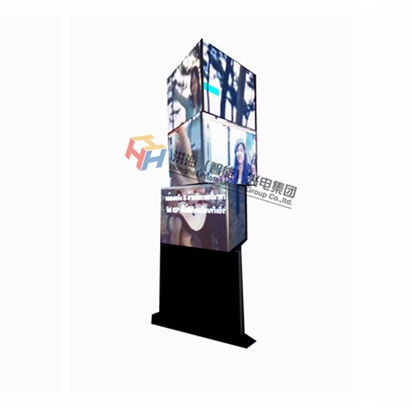 Twisting Triangular Cube LED Screen Display/Large 3D Rotating Led Advertising Equipment