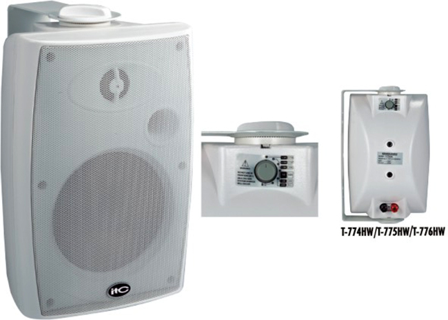 T-775HW ABS 70V 100V 15W Passive PA System Wall Mount Two Way Speaker