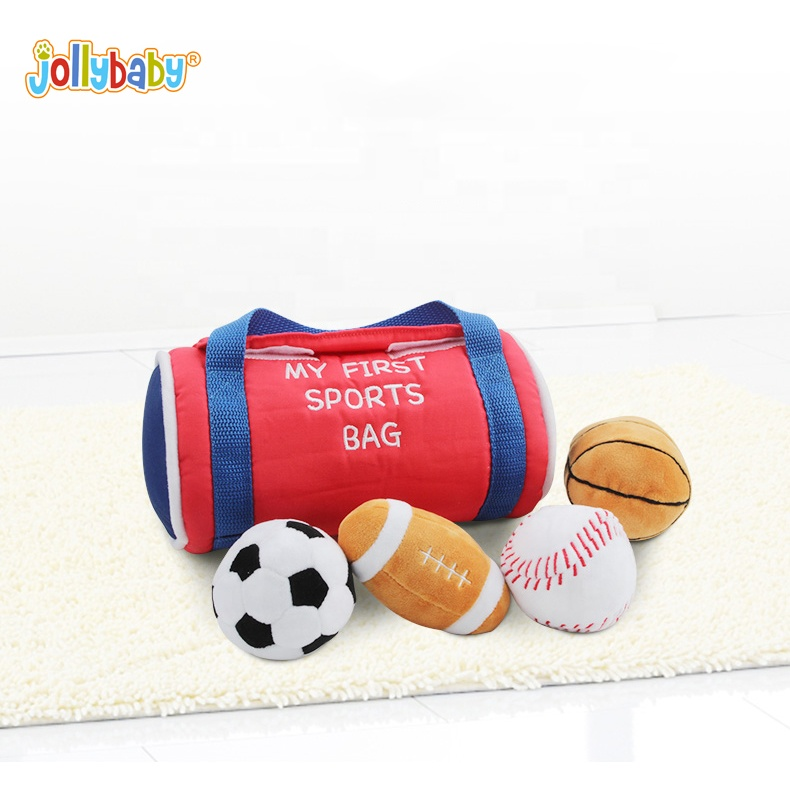 Jollybaby baby's first sports bag interesting and rich sport balls for early education and baby toy