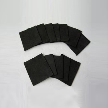 Activated carbon felt material cloth with black color roll