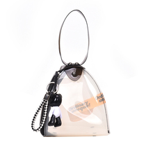 New Arrival Bucket Bag Transparent Clear PVC Fashion Women Handbag Ladies Crossbody Bag