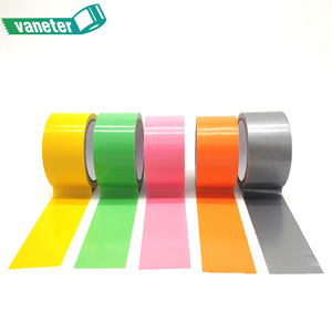 Heat resistant colored custom printed design cloth duct adhesive tape oem